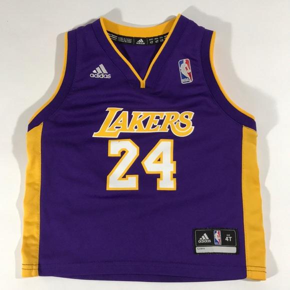 new products 9f366 f71bb LA Lakers adidas Kobe Bryant Jersey 4T Kids #24